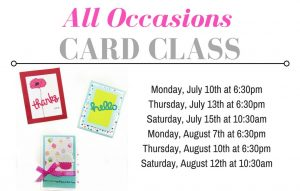 All Occasions CARD CLASS