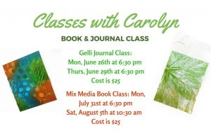 Classes with Carolyn - Book & Journal Class